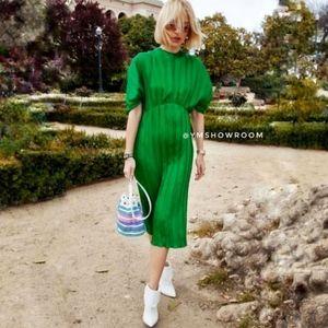 ZARA Studio Pleated midi dress M